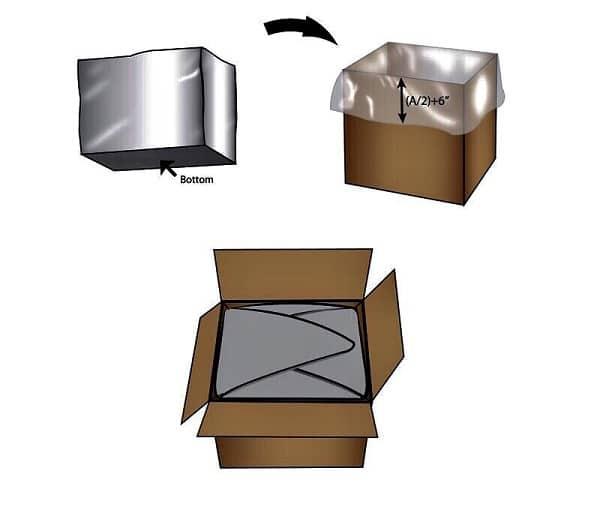 Poly Box Liner Bag_ถุงรองก้นกล่องแบบเผื่อพับปิดปากถุง